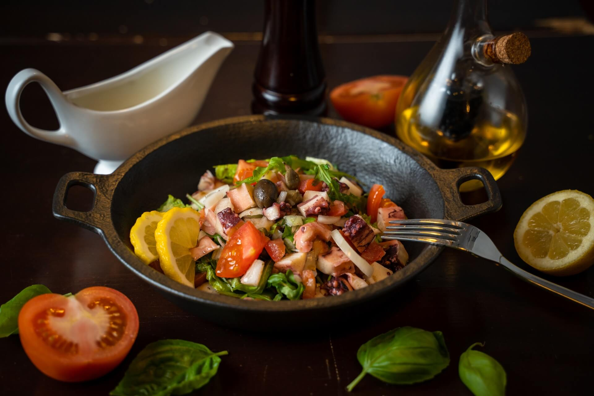 portun dubrovnik restaurant salad